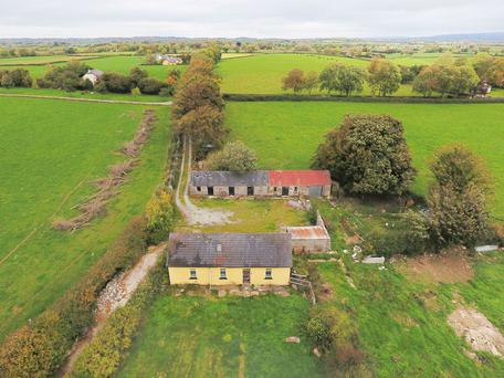 The property was offered for sale in two lots.