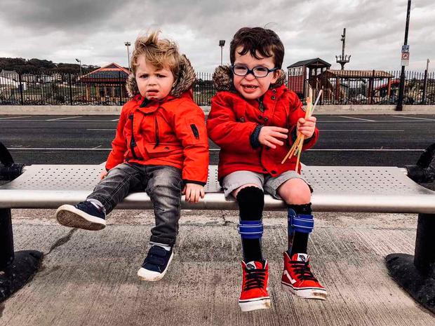Noah O'Sullivan (4) with his brother Jack from Co Waterford.
