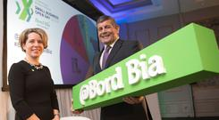 Bord Bia CEO, Tara McCarthy with Andrew Doyle, Minister of State for Food, Forestry and Horticulture. Photo Chris Bellew /Fennell Photography.