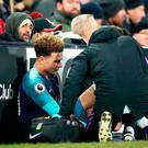 Alli could now be absent for up to 10 games with an injury he picked up in the latter stages of Sunday's 2-1 victory at Fulham. Photo: PA