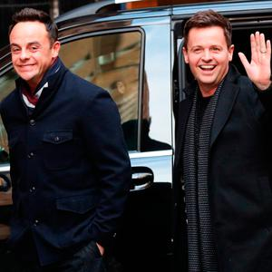 Anthony McPartlin (left) and Declan Donnelly arrive at Britain's Got Talent auditions at the London Palladium. Credit: Jonathan Brady/PA Wire