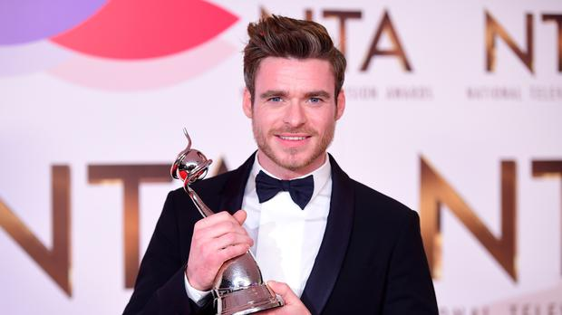 Richard Madden with the award for best Drama Performance at the National Television Awards (Ian West/PA)