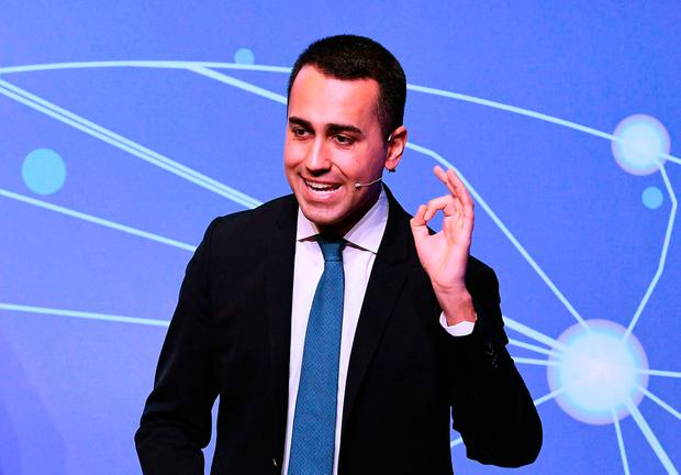 Italy's deputy prime minister Luigi Di Maio. Photo: AFP/Getty Images