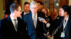 Senate Majority Leader Mitch McConnell is expected to introduce a bill to end the partial government shutdown today closely mirroring the offer made by U.S. President Donald Trump to Democrats over the weekend, an offer that has already been rejected. Photo: Win McNamee/Getty Images
