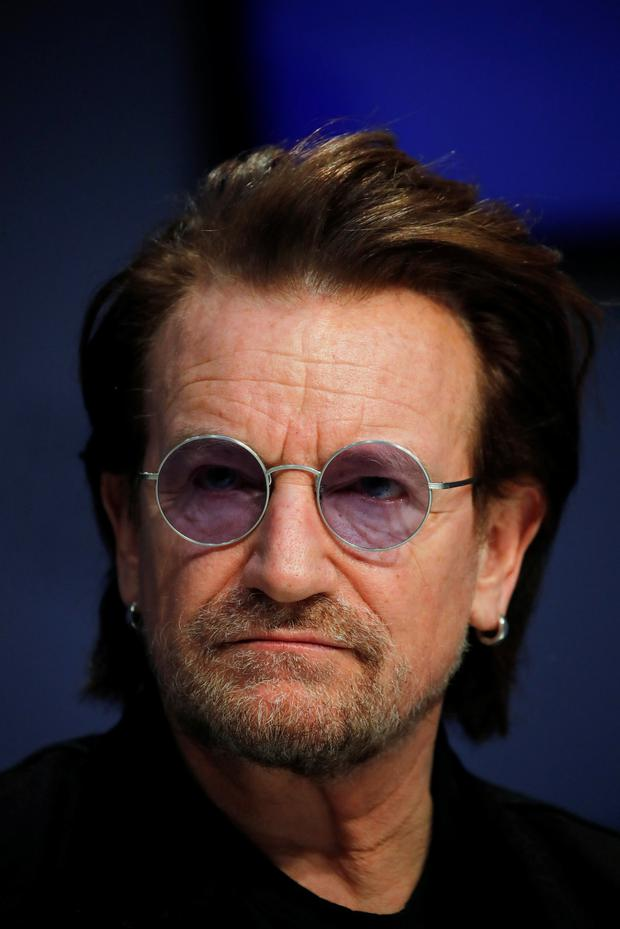 Bono, U2 singer and co-founder of the One campaign, attends the World Economic Forum (WEF) annual meeting in DavosREUTERS/Arnd Wiegmann