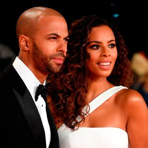 Marvin Humes and Rochelle Humes attends the National Television Awards held at the O2 Arena on January 22, 2019 in London, England. (Photo by Stuart C. Wilson/Getty Images)