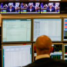 No, prime minister: A London trader monitors financial data as UK Prime Minister Theresa May speaks ahead of the recent UK parliament Brexit deal vote. Photo: Bloomberg