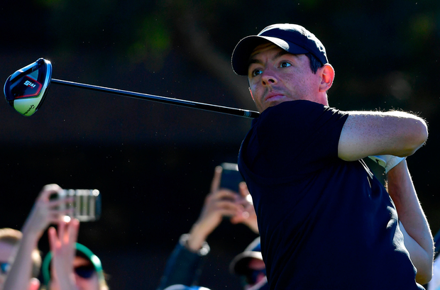 Rory McIlroy hits a tee shot during yesterday's Pro-Am at Torrey Pines ahead of making his seasonal debut at the Farmers Insurance Open. Photo: Getty Images