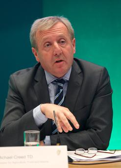 Hard Border questions: Michael Creed repeated the Government line when questioned yesterday. Picture: Damien Eagers