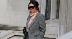Victoria Beckham attends Kent & Curwen at Temple Place during LFWM January 2019 on January 06, 2019 in London, England. (Photo by Neil Mockford/GC Images)