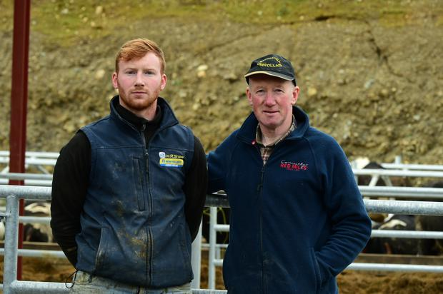Tom and his father James on the farm outside Inistoge, Kilkenny.