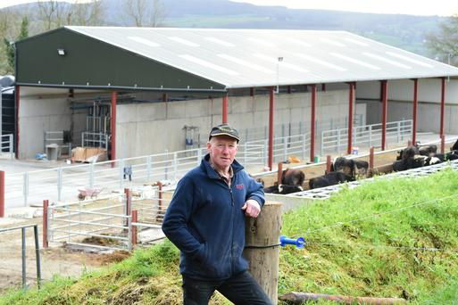 James Murphy with his new milking parlour. Photo: Roger Jones