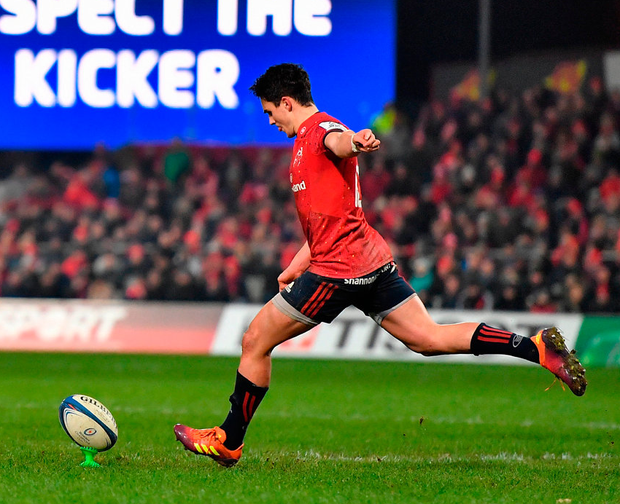 Joey Carbery, luckily, had his shooting boots on last weekend. Photo: Brendan Moran/Sportsfile