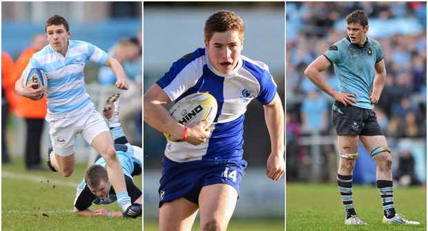 Andrew Conway (left), Jordan Larmour (centre) and James Ryan (right).