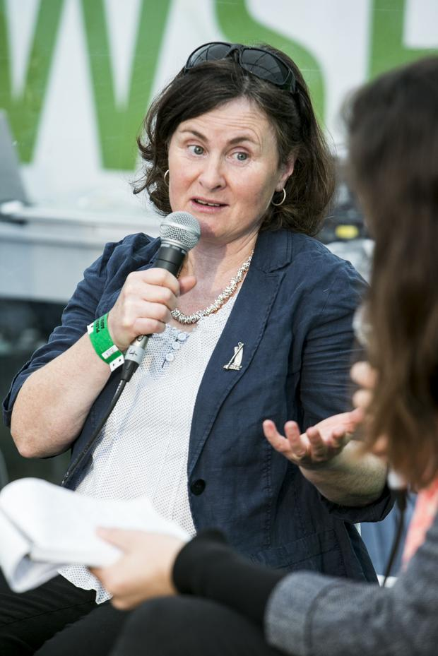 Ann Fitzgerald during the discussion on Women in Farming in the Independent Tent at the Ploughing Championships in Screggan Co Offaly