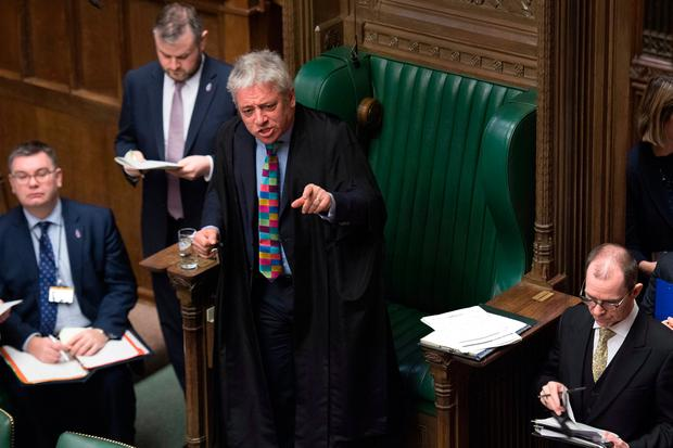 Speaker of the House of Commons John Bercow. Photo: PA