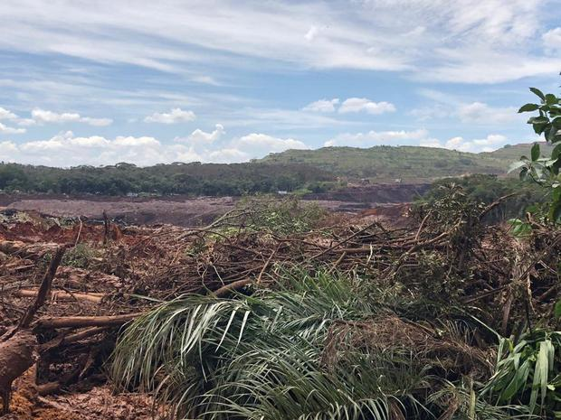 A general view of the aftermath from a failed iron ore tailings dam in Brumadinho, Minas Gerais, Brazil January 25, 2019 in this image obtained from social media. Nairo Almeri via REUTERS