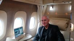 Mark Evans tries out Suite 1A — albeit temporarily — on a Dubai-bound flight at Dublin Airport