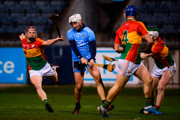 On the mark: Darragh O'Connell blasts home Dublin's first goal. Photo by Harry Murphy/Sportsfile