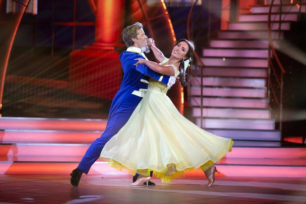 Voted out: Holly Carpenter with Trent Whiddon on 'Dancing With The Stars' last night. Photo: Kyran O'Brien