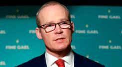 Disruption: Tánaiste Simon Coveney. Photo: Frank McGrath