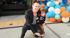 Wolf Rhys Meyers and Jonathan Rhys Meyers attend The Elizabeth Glaser Pediatric AIDS Foundation's Annual 'A Time For Heroes' Family Festival at Smashbox Studios at Smashbox Studios on October 28, 2018 in Culver City, California. (Photo by Michael Kovac/Getty Images for Elizabeth Glaser Pediatric AIDS Foundation)