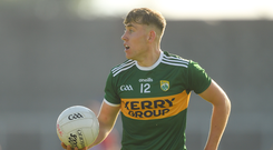 Dara Moynihan is set to make his senior championship debut for Kerry against Cork on Saturday. Photo by Piaras Ó Mídheach/Sportsfile