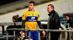 Clare hurler Tony Kelly was sent off for his tackle on Padraic Maher in their clash with Tipperary. Photo: Diarmuid Greene/Sportsfile