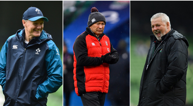 Joe Schmidt (left), Eddie Jones (centre) and Warren Gatland (right).