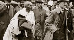 Radical method: Mahatma Gandhi in London in 1931 drew huge crowds. Photo: Imagno/Getty Images