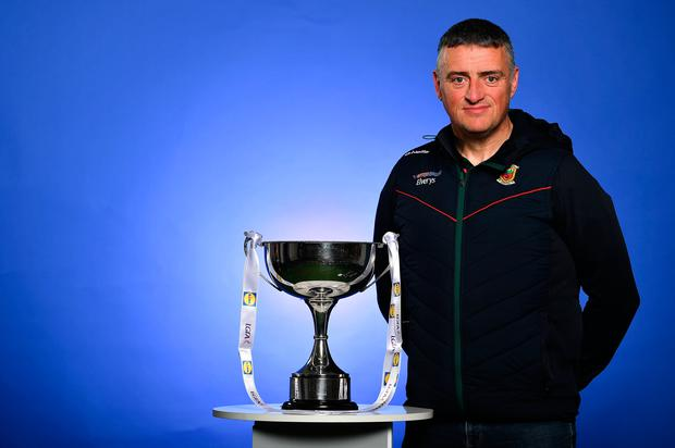 Man with a mission: Peter Leahy is hoping all involved will pull together for benefit of Mayo football. Photo: Sportsfile