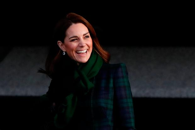 Catherine, Duchess of Cambridge leaves after visiting the