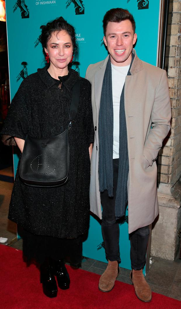 Morah Ryan and Ellliott Ryan at the opening night of the Gaiety Theatre's new production of Martin McDonagh's The Cripple of Inishmaan at the Gaiety Theatre, Dublin. Picture: Brian McEvoy