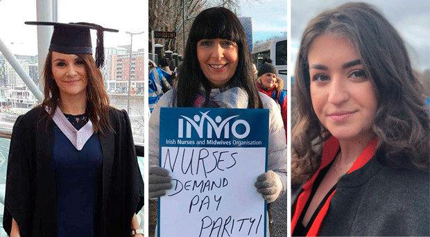 From left to right: Lisa Kelly (36) from Dublin, Margaret Keohane (46) from Cork and Anna Murphy (19)