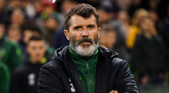 13 October 2018; Republic of Ireland assistant manager Roy Keane during the UEFA Nations League B group four match between Republic of Ireland and Denmark at the Aviva Stadium in Dublin. Photo by Stephen McCarthy/Sportsfile