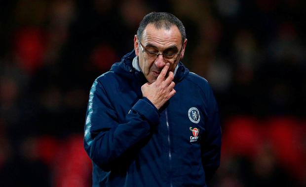 a72366ca6 Pressure piles on Maurizio Sarri after Chelsea suffer their joint ...