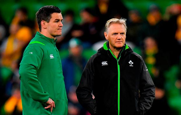 Best of the best: Johnny Sexton and Joe Schmidt will both look to maintain their stunning recent record. Photo: Brendan Moran/Sportsfile
