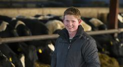 Pictured is Michael Kavanagh from Coolgreany, Co Wexford on his farm. Picture: Patrick Browne