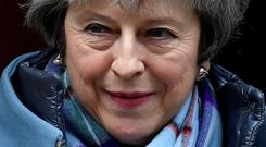British Prime Minister Theresa May U-turned on the backstop. Photo: Reuters