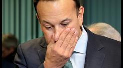 Common touch?: Taoiseach Leo Varadkar at the IFA Annual General Meeting this week. Photo: Steve Humphreys