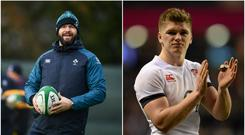 Andy Farrell (left) and Owen Farrell (right).