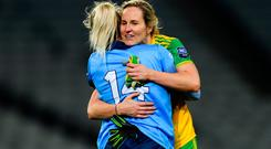 Karen Guthrie of Donegal with Nicole Owens of Dublin