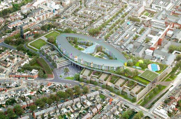 An artist's impression of the National Children's Hospital