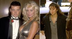 John Wayne Bobbitt and porn star Crystal Gold attend the John Wayne Bobbitt Uncut premiere in Beverly Hills in September 1994, left, and Lorena Bobbitt during her trial, right