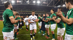 'Increasingly, a rugby press conference sounds uncannily like the weigh-in for a championship fight.' Photo by Brendan Moran/Sportsfile
