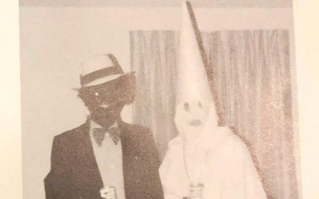 Mystery: The photo on Ralph Northam's yearbook page, featuring a man in blackface and a person wearing a Ku Klux Klan outfit