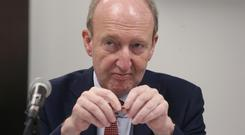 'Buzz of barracking': Transport Minister Shane Ross's remarks were greeted with disapproval. Picture: Damien Eagers