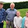 Seán Lennon with his grandchildren Devlyn, Tillie and Chloe Lennon