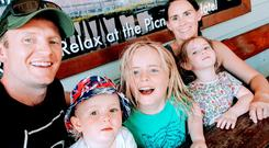 Mick Doyle, his wife Rachel and their three kids