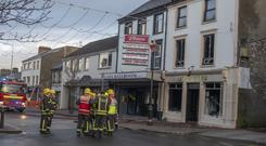 The scene of the fire on Buncrana, Main St where a number of businesses have been gutted (Photo: North West Newspix)